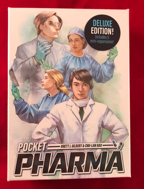 Pocket Pharma DELUXE Edition | Brett J Gilbert | Includes 5 Mini-Expansions - Kickstarted Games