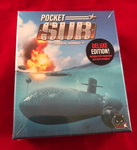 Pocket Sub DELUXE Mini Board Game w/ Aircraft Meeples & Expansion - Kickstarted Games