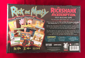 Rick and Morty Rickshank Rickdemption Deck Building Game - Kickstarted Games