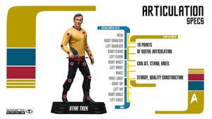 "McFarlane Star Trek Captain James T. Kirk Collectible 7"" Action Figure - Kickstarted Games"