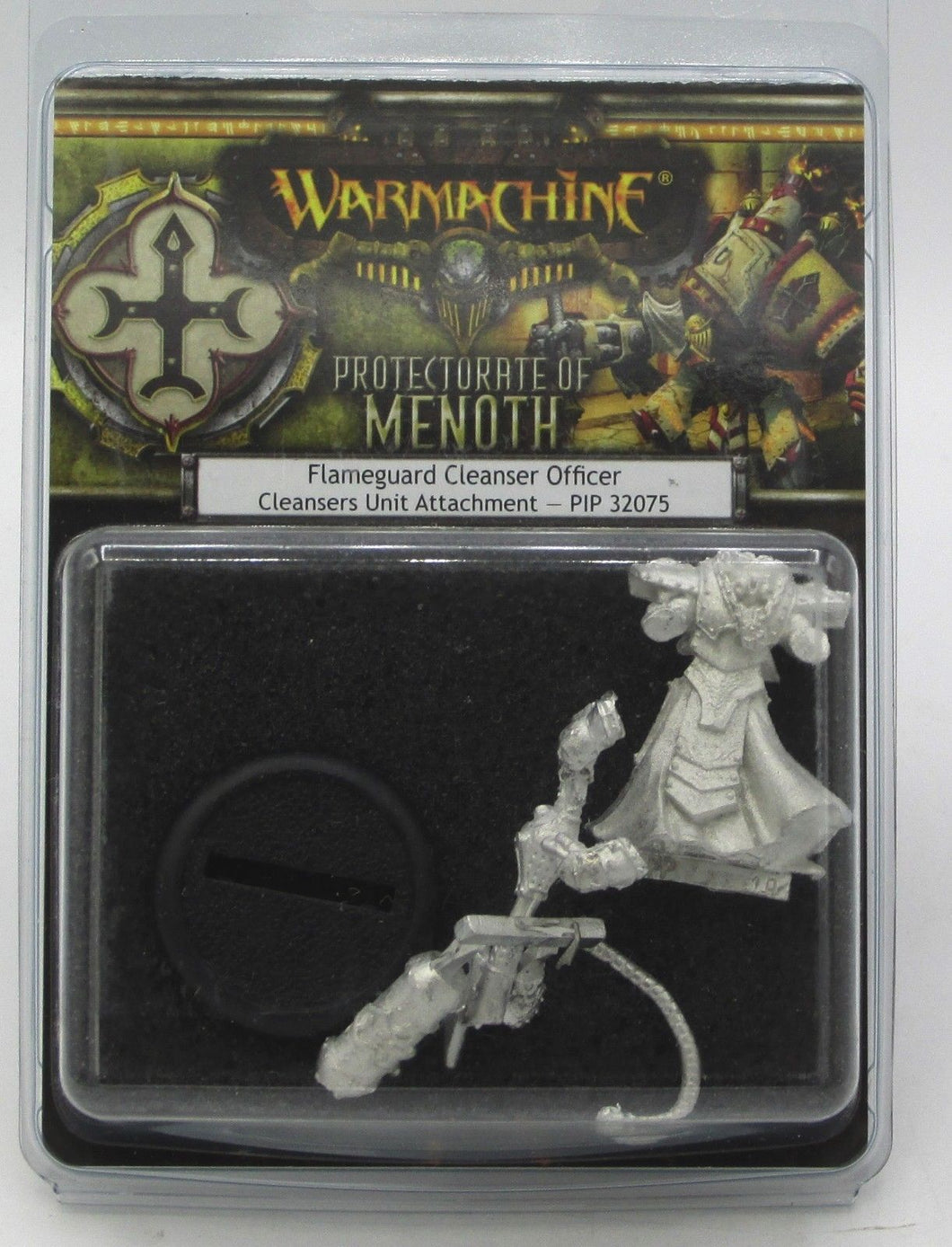 Warmachine PIP32075 Flameguard Cleanser Officer Clensers Unit Attachment Model Kit | Privateer Press - Kickstarted Games