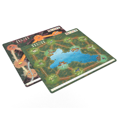 Root Underworld Expansion Lake / Mountain Double Sided Play Mat - Kickstarted Games