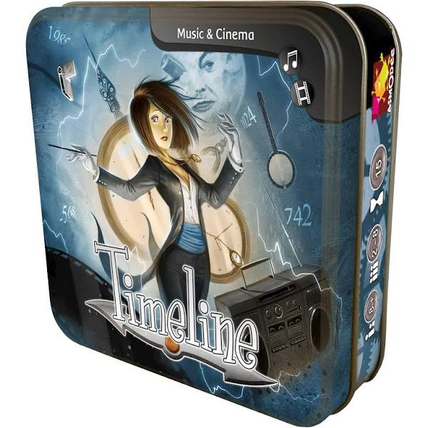 Timeline Game Expansion Music and Cinema Card Tin | Asmodee - Kickstarted Games
