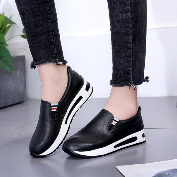 Women  Leather Sports Shoes