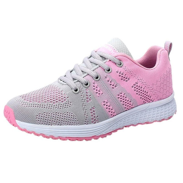 Breathable Rose Mesh Sneakers
