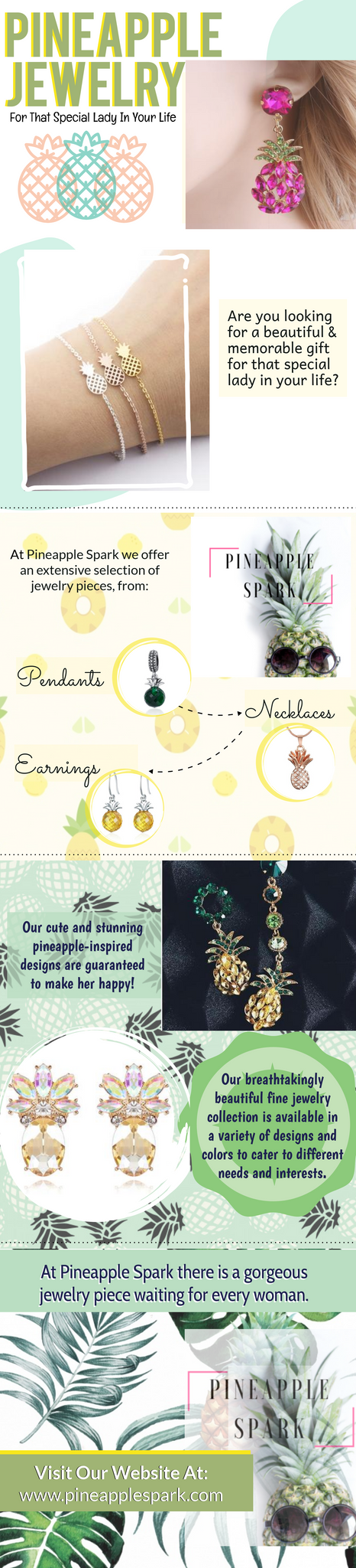 Pineapple jewelry