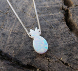 Opal Pendant & 925 Sterling Silver Necklace