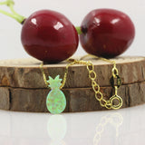 green pineapple opal necklace jewelry