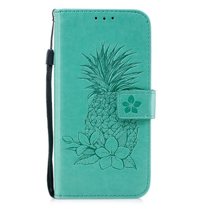 Embossed Pineapple Wallet Case