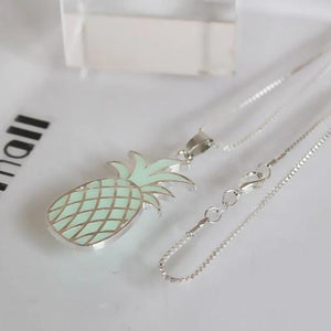 glowing pineapple pendant