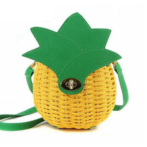 Pineapple-vintage-straw-shoulder-bag