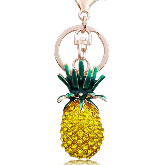 Pineapple Spark Key-chain | Crystal Pineapple Pendant