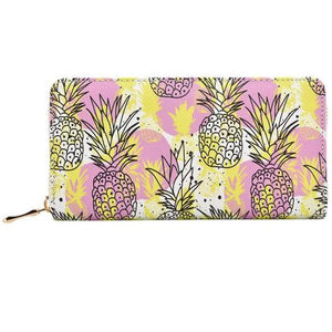 Blurry Pink Pineapples Wallet