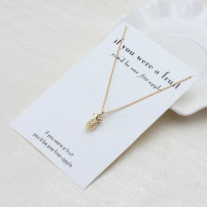 Be a Fineapple Wish Card Necklace