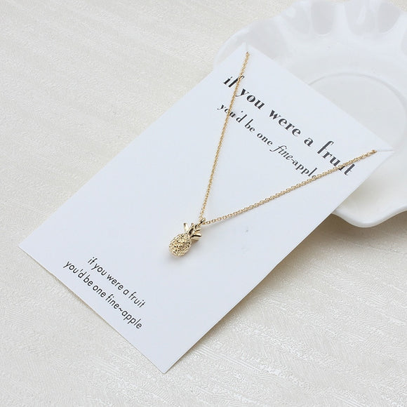 Fine-apple Wish Card Necklace