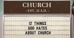 12 Things God Hates About Church, Week 4 - Isolation, Casual Commitment & Religious Clones