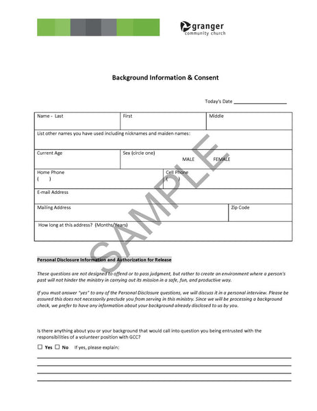 Wiredchurches.Com — Background Check Form