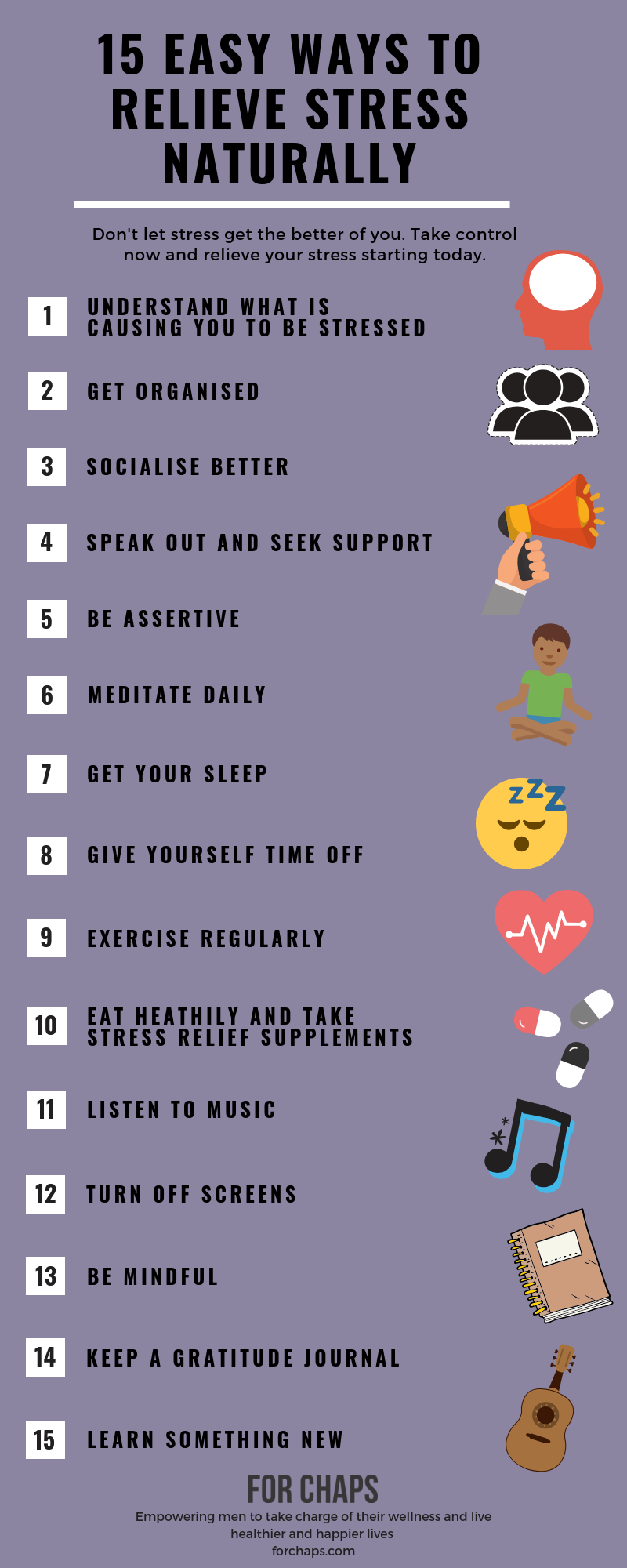 The Best Ways to Reduce Stress Infographic