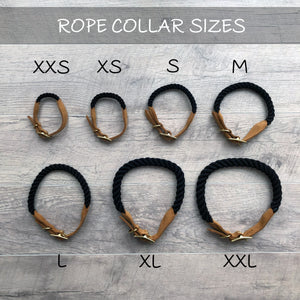 Original Cotton Rope Dog Collar - Black Ombre - Howell Pet Originals