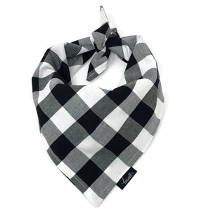 Dog Bandana - Black and White Check Gingham