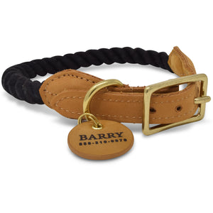 Original Cotton Rope Dog Collar - Black - Howell Pet Originals