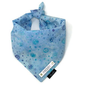 Dog Bandana - Blue Watercolor Floral