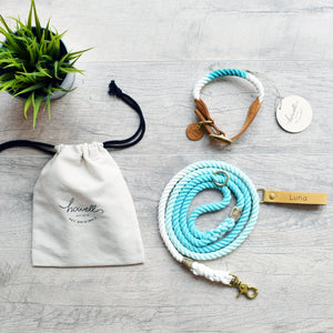 Rope Dog Leash - Teal Ombre | Original Cotton