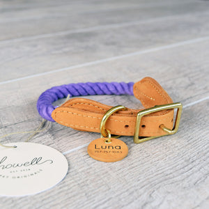 Rope Dog Collar - Purple | Original Cotton Fashion Collar
