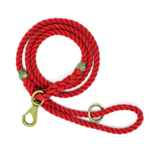 Rope Dog Leash - Red | Mariner Series