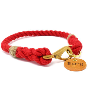 Rope Dog Collar - Red | Mariner Series