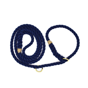 Slip Lead Rope Dog Leash - Navy | Mariner Series