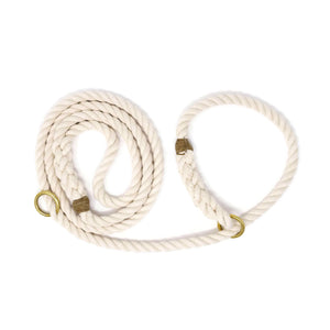 Slip Lead Rope Dog Leash - Off White | Mariner Series