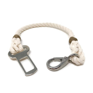 Dog Seat Belt Tether - Off White | Mariner Series
