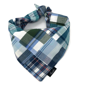 Dog Bandana - Madras Plaid Nantucket