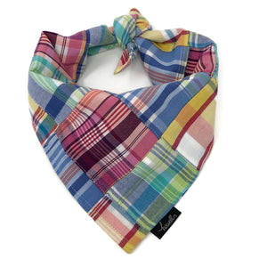 Dog Bandana - Madras Plaid Retro