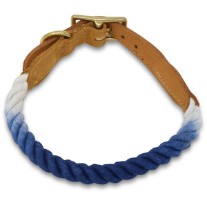 Original Cotton Rope Dog Collar - Navy Ombre - Howell Pet Originals