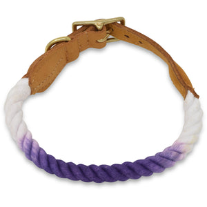 Original Cotton Rope Dog Collar - Violet Ombre - Howell Pet Originals