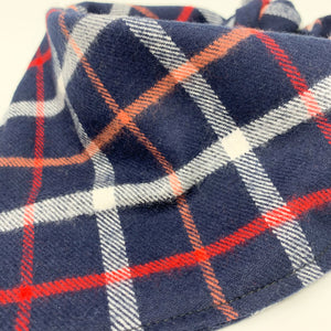 Dog Bandana - Navy Tahoe Plaid Flannel