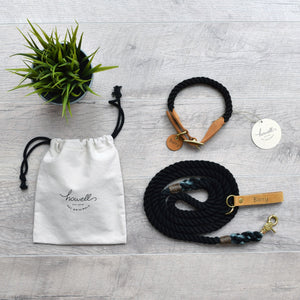 Rope Dog Leash - Black | Original Cotton