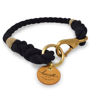 Rope Dog Collar - Black | Mariner Series