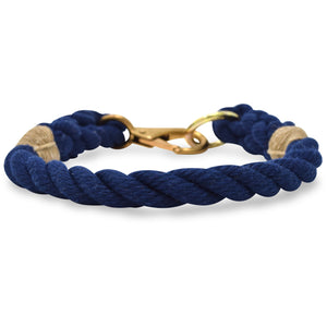 Rope Dog Collar - Navy | Mariner Series
