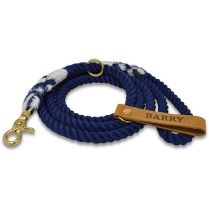 Original Cotton Rope Dog Leash - Navy - Howell Pet Originals