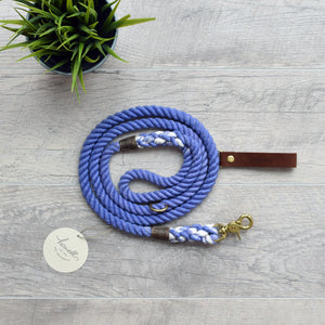 Rope Dog Leash - Purple Periwinkle | Original Cotton