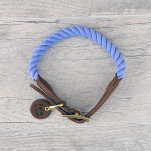 Rope Dog Collar - Purple Periwinkle | Original Cotton Fashion Collar