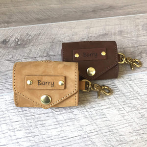 Leather Poop Bag Holder