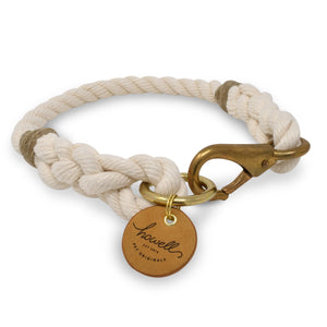 Rope Dog Collar - Off White | Mariner Series