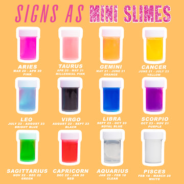 Signs as Mini Slimes | Horoscopes for August