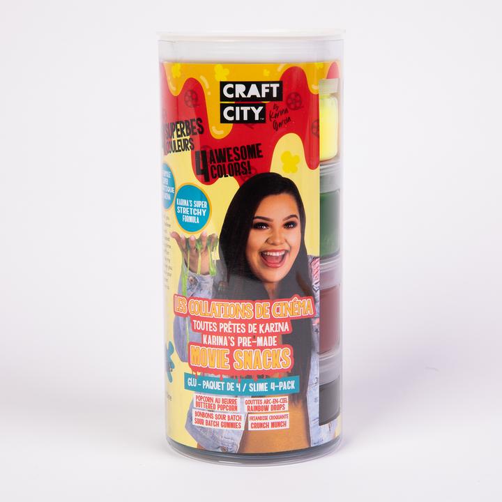 Craft City by Karina Garcia Movie Snacks Slime 4-pack