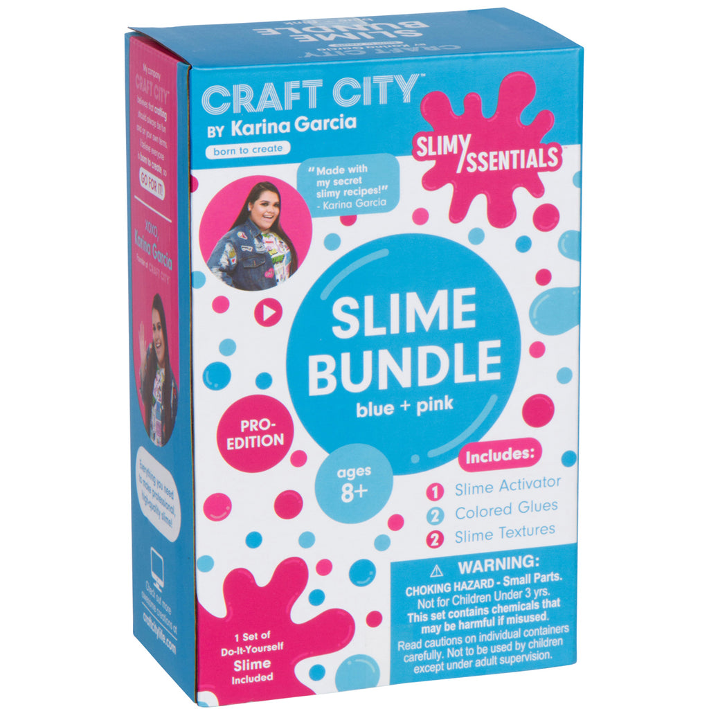 slimyssentials slime bundle blue pink craft city