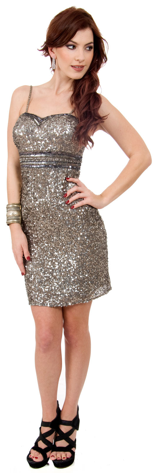 Main image of Sweetheart Neck Empire Cut Short Prom Dress